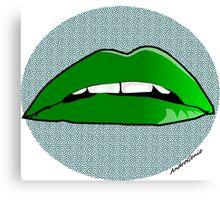 Alien Lips Canvas Print