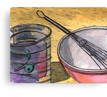 Flour Sifter and Whisk Canvas Print