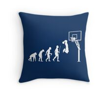 Funny Basketball Dunk Evolution of Man Throw Pillow
