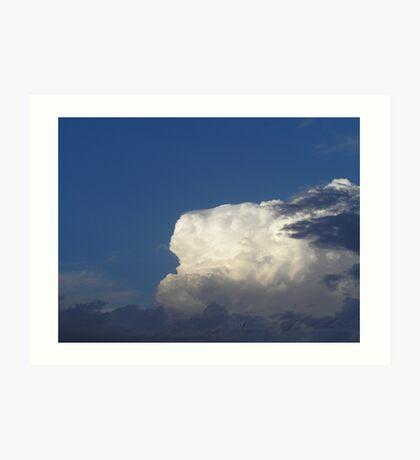 A storm brewing. Art Print