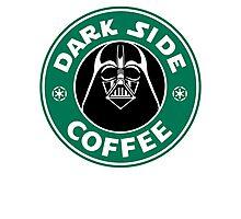 Dark Side Coffee Photographic Print