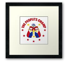 NEW! Manny The People's Champ Boxing Framed Print