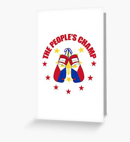 The People's Champ Boxing Greeting Card