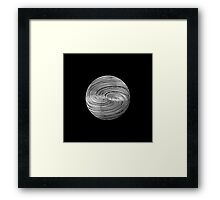 Twisted Twine Sphere Framed Print