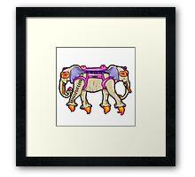 -ANCIENT  PSYCHIC TANDEM WAR ELEPHANT- Framed Print