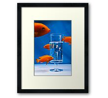 Living in a Fish World Framed Print