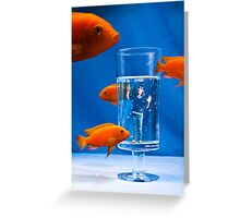 Living in a Fish World Greeting Card