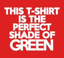 This t-shirt is the perfect shade of green by onebaretree