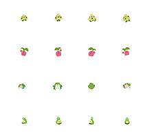 Grass Pokemon Stickers 2 by Alexandra Salas