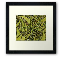 Unknown Internal Vision [Abstract #55] YELLOW Framed Print