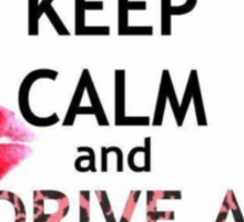 KEEP CALM AND DRIVE A MINI COOPER BY: Lizvel Sticker