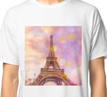 Eiffel Tower Sunset Classic T-Shirt