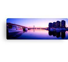 Docklands Sunset Panorama Canvas Print