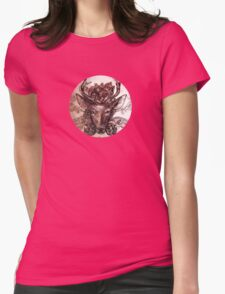 Deer: Sepia  Womens Fitted T-Shirt