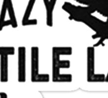 Black Reptile Lady Sticker
