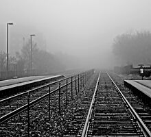 Train Tracks on a Misty Morning by eprather95