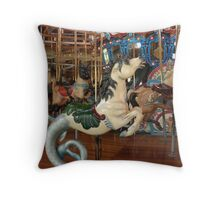 not exactly a seahorse... but a sea horse... of sorts... Throw Pillow