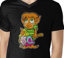 Wolf Boy Killer Mens V-Neck T-Shirt