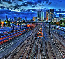Melbourne Train Tracks by mauricegue