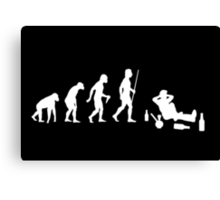 Evolution of Man Chilling With Dope and Alcohol Canvas Print