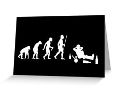 Evolution of Man Chilling With Dope and Alcohol Greeting Card