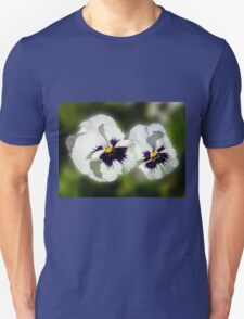 Cute As They Come - Pair of Sunlit Pansies Unisex T-Shirt