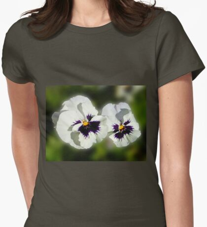 Cute As They Come - Pair of Sunlit Pansies Womens Fitted T-Shirt