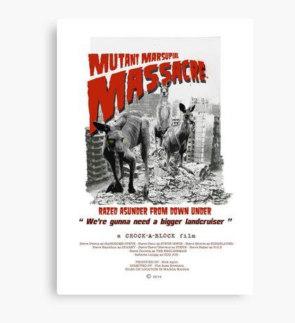 Mutant Marsupial Massacre Canvas Print