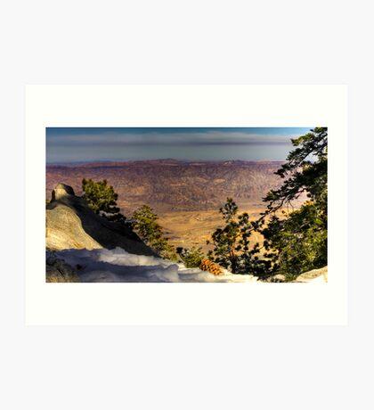 View form Mount San Jacinto Art Print