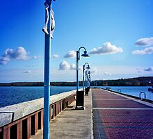 Cold Lake Marina Boardwalk by Vickie Emms