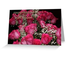 CONGRATULATIONS TO THE BRIDE & GROOM  Greeting Card