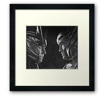 Jotunheim and Asgard Framed Print