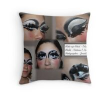 Make-up by Orlando Santiago Throw Pillow