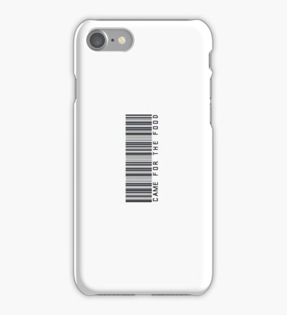 Came For The Food Barcode Phone Case or Sticker - Horizontal iPhone Case/Skin