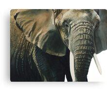 """Elephant"" Wildlife Animal Watercolor Canvas Print"