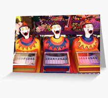 Carnival Clowns Greeting Card