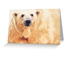 """Hope"" Polar Bear Wildlife Watercolor Art Greeting Card"