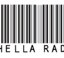 Hella Rad Barcode Phone Case or Sticker Sticker