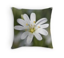 Pure White And Wild Throw Pillow