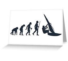 Windsurfing Evolution of Man Greeting Card