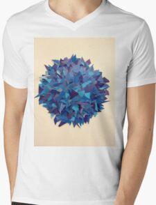 Blue. Mens V-Neck T-Shirt