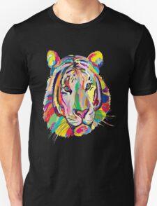 Rainbow Tiger Face T-Shirt