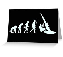 Windsurfing T Shirt Evolution of Man Greeting Card