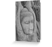 Thai Buddha, Wat Mahathat, Ayutthaya Greeting Card