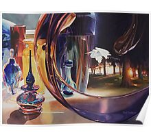 """""""Through The Looking Glass"""" Watercolor Art Poster"""