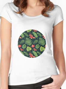 The Tropical Plant Women's Fitted Scoop T-Shirt