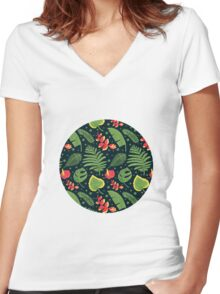 The Tropical Plant Women's Fitted V-Neck T-Shirt