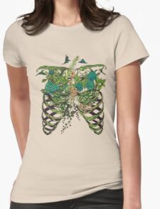 Nature Rib Cage Womens Fitted T-Shirt