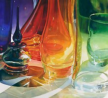 """Perfect Curves"" Art Glass Watercolor by Paul Jackson"