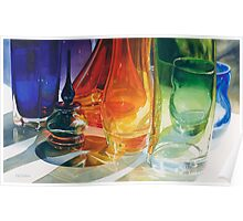 """""""Perfect Curves"""" Art Glass Watercolor Poster"""